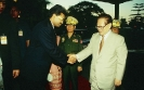 From right to left – Chinese President H.E. Jiang Zemin, Prime Minister of the Union of Myanmar H.E. Khin Nyunt and Saman Sarathchandra