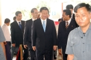 Saman Sarathchandra welcomes the Chinese President His Excellency Xi Jinping at Sedona Hotel Yangon