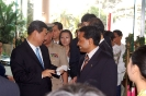 His Excellency Xi Jinping is welcomed by Saman Sarathchandra