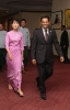 Saman Sarathchandra, Sedona Hotel General Manager,  welcomes Daw Aung San Suu Kyi, Nobel Peace Prize Laureate
