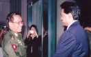 Prime Minister of the Union of Myanmar H.E. Soe Win is  welcomed by Saman Sarathchandra (2006)