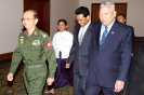 Saman Sarathchandra accompanies the Thai Prime Minister Samak Sundaravej and Prime Minister of the Union of Myanmar General Thein Sein