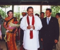 Saman Sarathchandra with H.E. President Mahinda Rajapaksa in June 2009