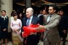 Saman Sarathchandra with FIFA President Joseph. S. Blatter