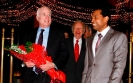 Mr. John Mc Cain, senior United States Senator from Arizona and Republican presidential nominee in the 2008 United States election, is welcomed by Saman Sarathchandra