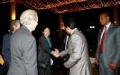 Saman Sarathchandra greets Senator Ms. Kelly Ayotte of New Hampshire
